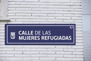 Calle de Madrid MujeresRefugiadas ONG Rescate